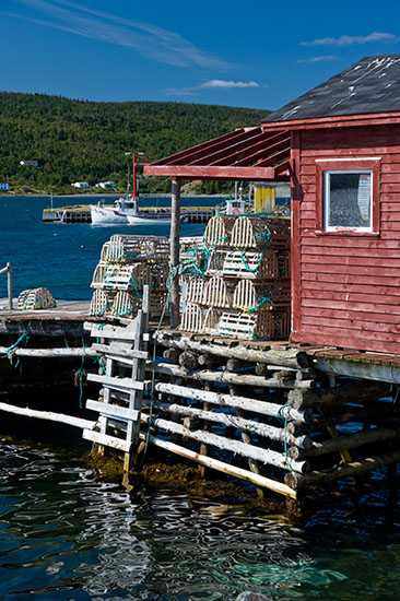 A typical Newfoundland fishing stage and stage head.