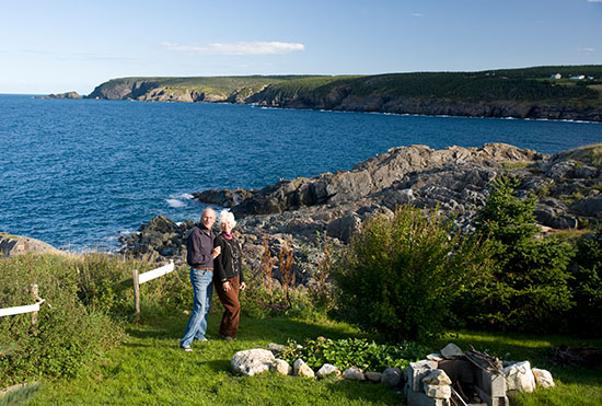 Here we are in our new backyard on Pouch Cove.