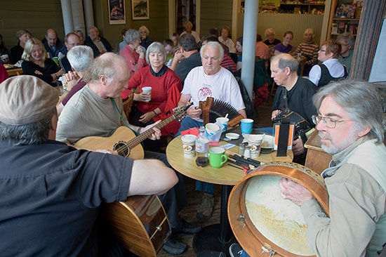 The Auntie Crae Band during a lunch hour jam.