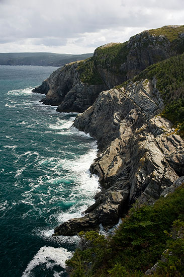 The atypical rugged coast of Newfoundland.