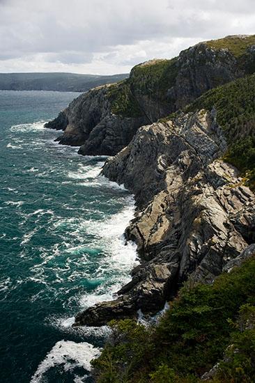 The atypical rugged coast of Newfoundland.