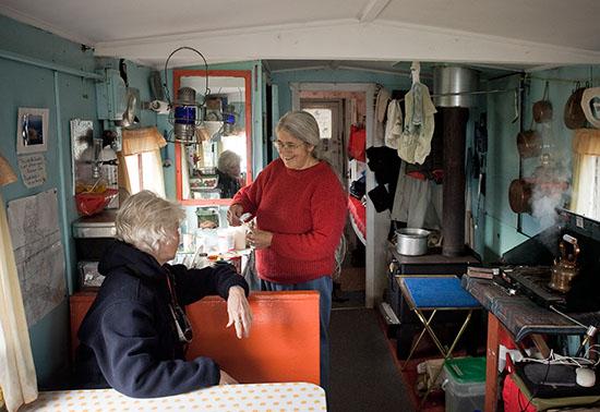 Helen Forsey fixing tea for Yolanda.