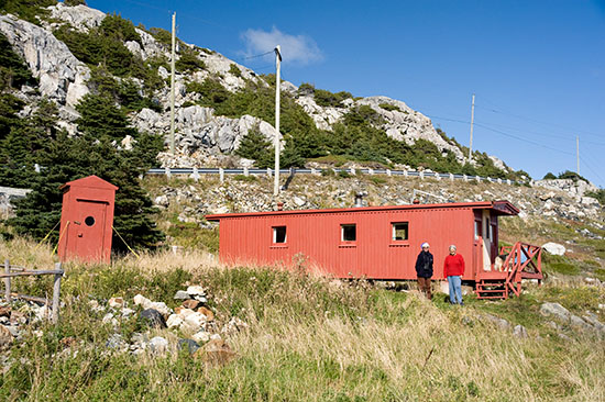 Helen's little red caboose at Cape St. Francis.