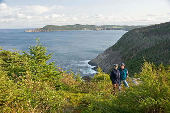 Dennis and Yolanda somewhere on the East Coast Trail.