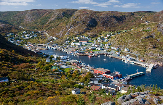 Petty Harbour viewed from the East Coast Trail.