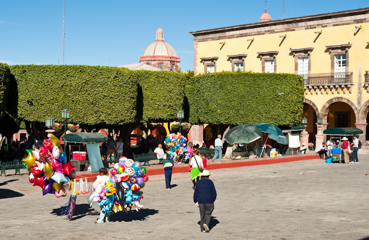 The Jardin, the center of life in San Miguel de Allende