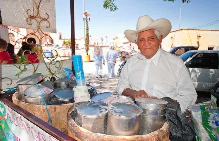 Don Gabriel, a patriarch of Dolores Hidalgo ice cream vendors.