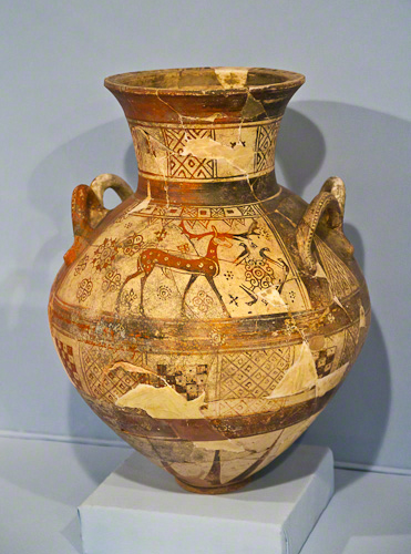 An ancient urn at Izmir's archaelogical museum