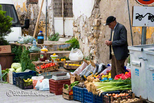 Kusadasi, Turkey Man selling vegetables