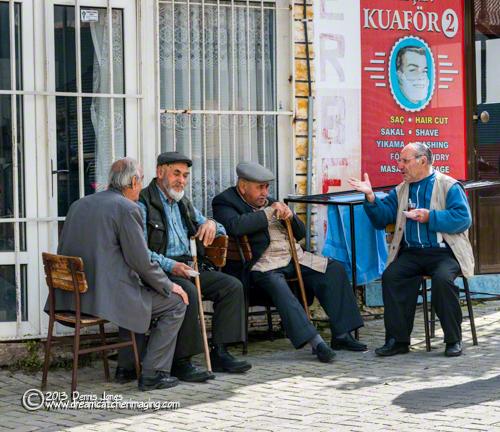 Kusadasi, Turkey men talking
