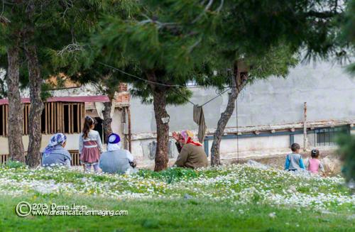 Kusadasi, Turkey park with children