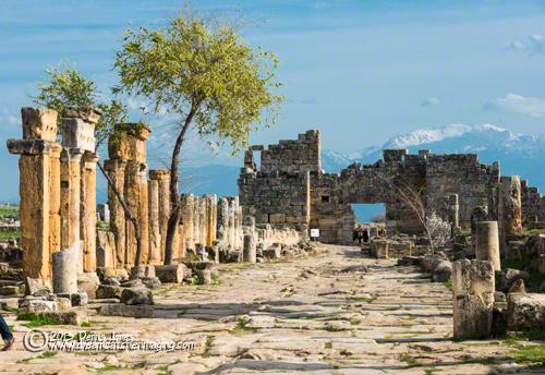Pamukkale, Turkey Hieropolis Roman Ruins