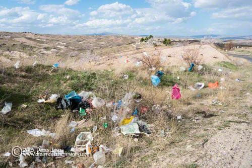 Plastic bag trash Nevsheshir Turkey