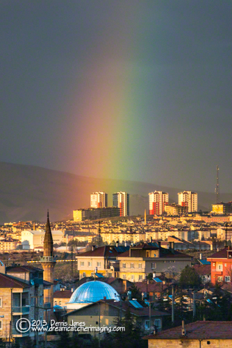 Rainbow over Nevşehir, Turkey
